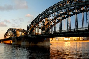 Bridge on sunset
