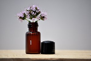 small jar with bouquet