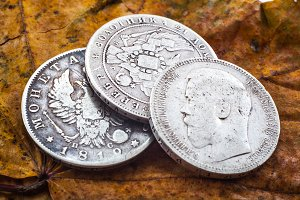 three silver rubles