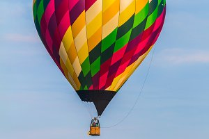 Hot Air Balloon Above Treetops