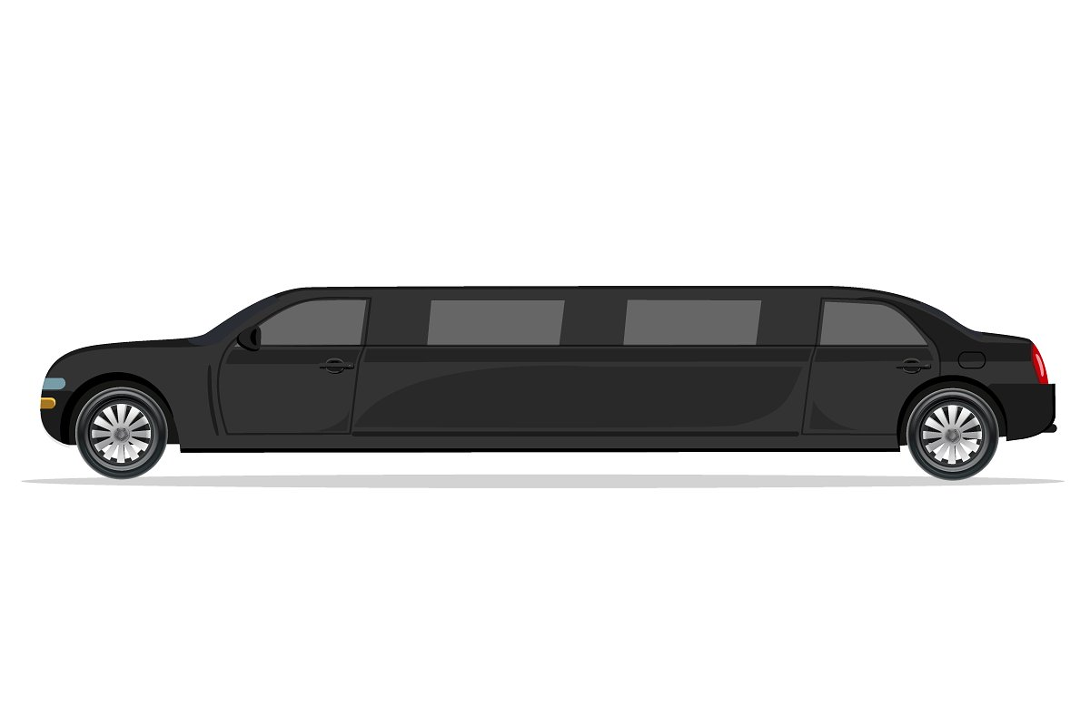 black limousine, design element in Illustrations - product preview 8