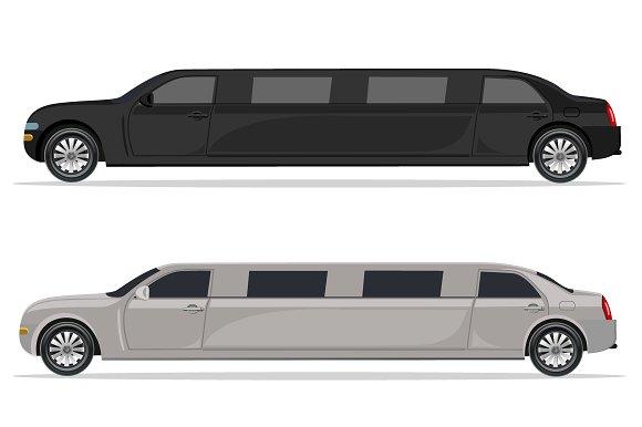 white and black limousine, design