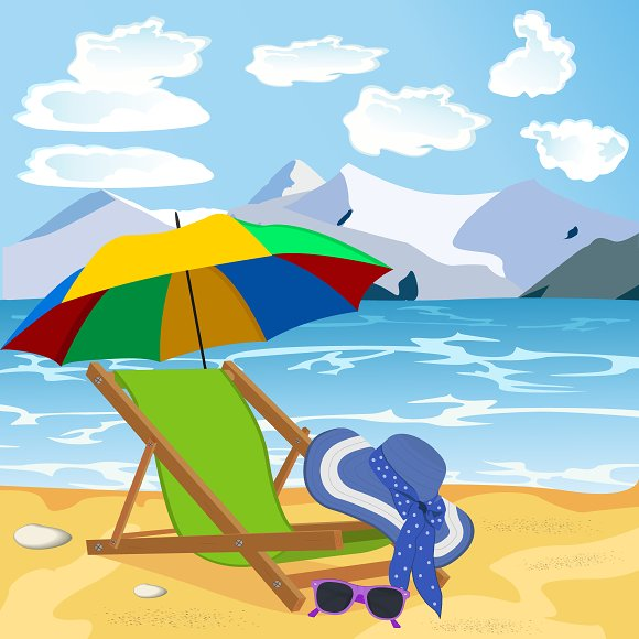 vocation, beach, summer concept