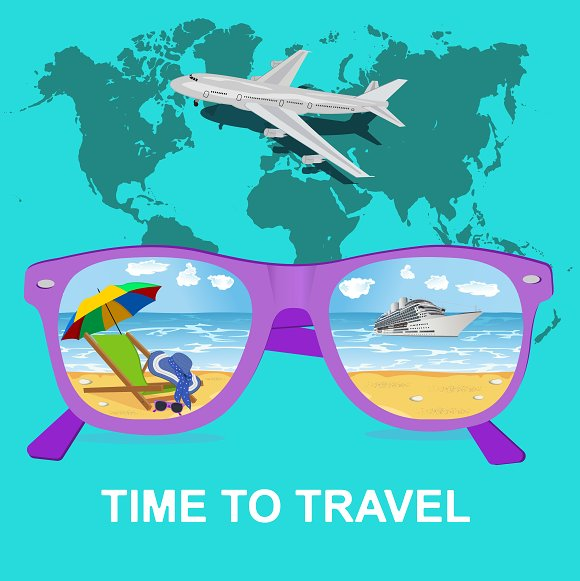 Traveling, tourism and vacations in Illustrations