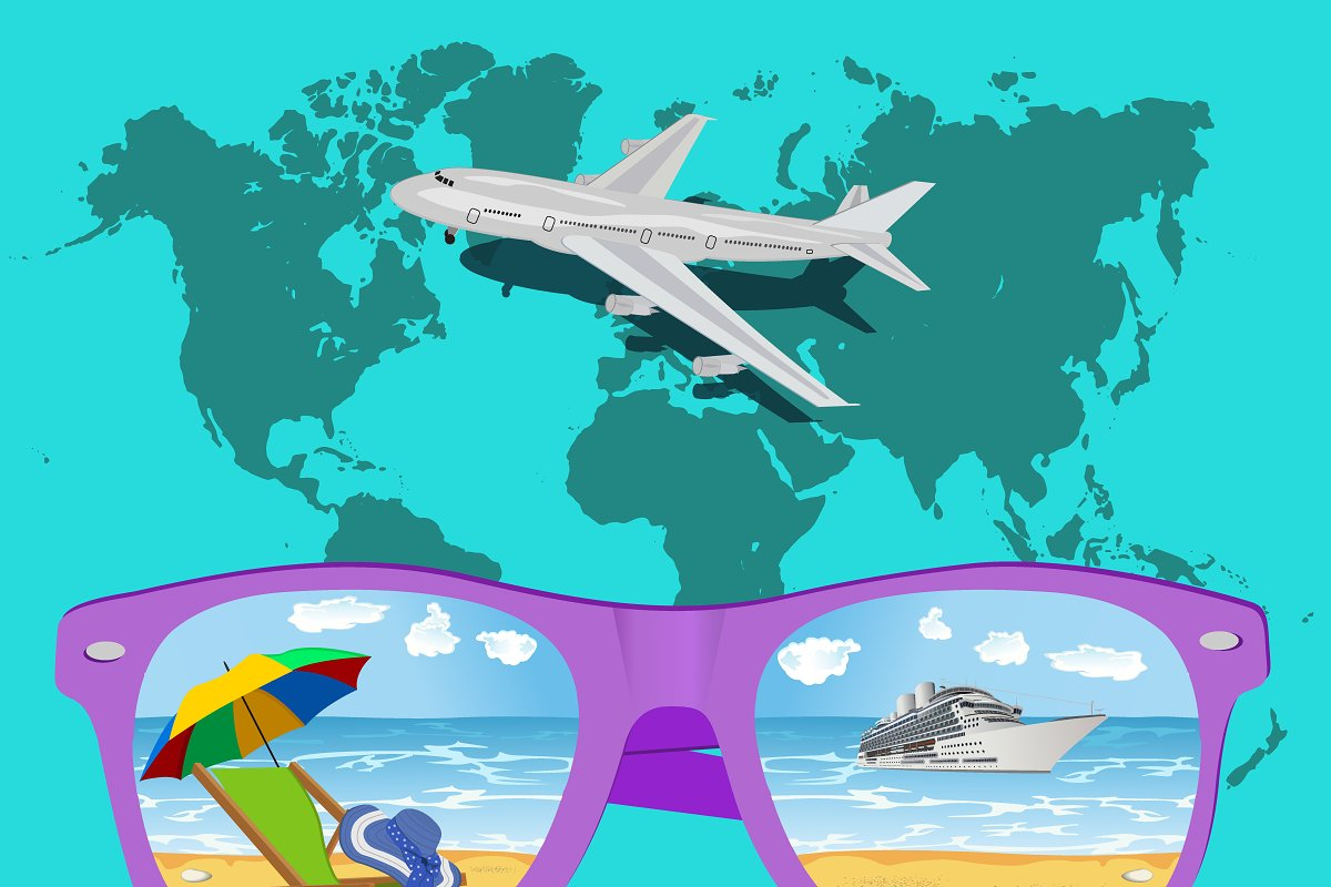 Traveling, tourism and vacations in Illustrations - product preview 8