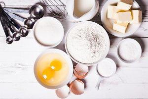 The baking ingredients