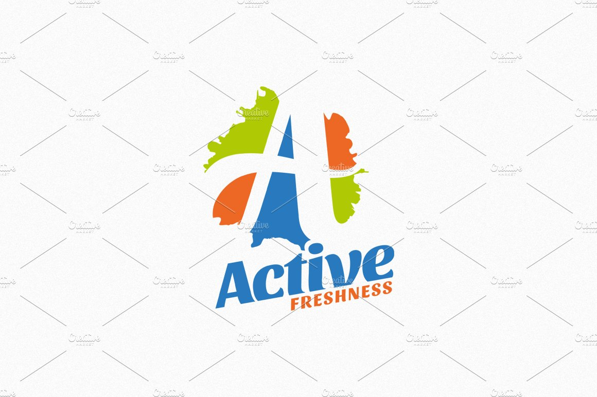 active freshness logo template logo templates creative market
