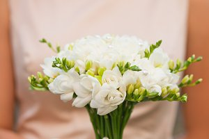Wedding freesias bouquet
