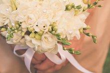 Wedding freesias bouquet