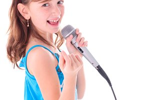 Girl is singing