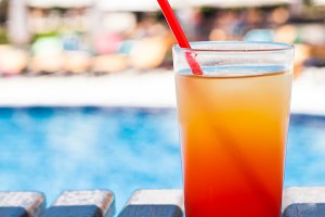 Cocktail near swimming pool