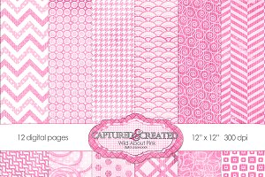 Wild About Pink Digital Paper Pack