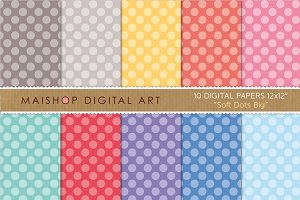 Digital Papers - Soft Dots Big