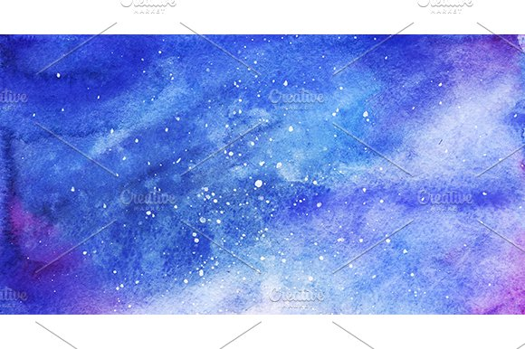 Watercolor Space Galaxy Background Graphic Patterns Creative Market Extraordinary Galaxy Pattern