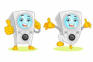 Washing Machine Mascot
