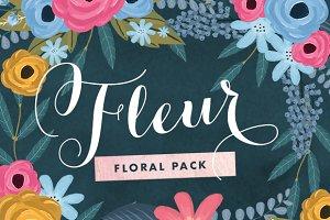 Fleur - Painted Floral Graphics