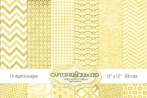 Wild About Yellow Digital Paper Pack