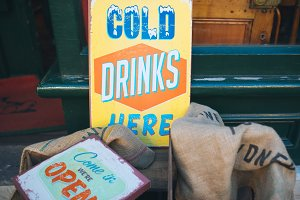 Cold Drinks Vintage Sign