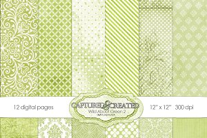 Wild About Green 2 Digital Paper