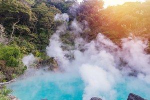 hot spring (hell) Beppu Oita, Japan.