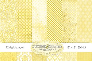 Wild About Yellow Set 2Digital Paper