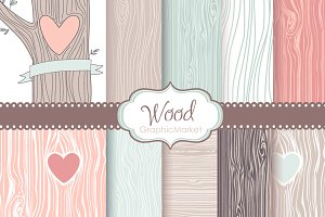 Wood grain patterns woodland wedding