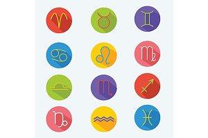 Classic zodiac signs. Vector+jpg