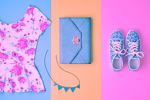 Fashion. Clothes Accessories Set. Summer Outfit