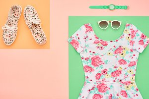 Fashion. Clothes Accessories Set. Outfit. Minimal