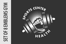 Set emblems gym
