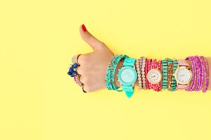 Fashion Accessories Set.Outfit.YES Gesture.Minimal