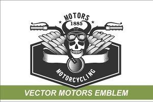 3 Motors vector emblems