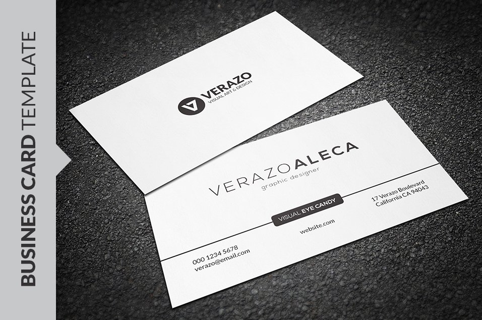 Clean Minimal Business Card Template Business Card Templates - Email business card templates