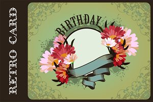 Set Greeting cards birthday