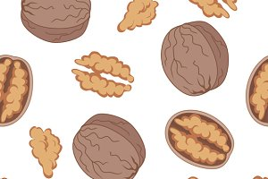 Walnut Seamless Pattern