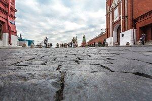 Spasskaya Tower and Kremlin wall.