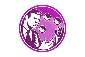 Businessman Juggler Juggling Balls