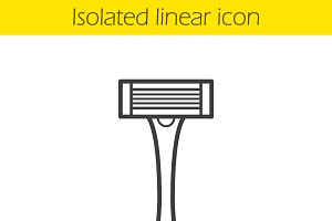 Shaver linear icon. Vector