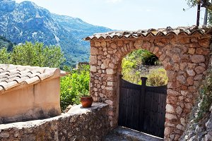 Old gate on the street, Majorca