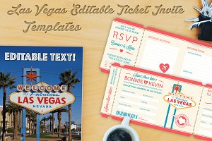 Las Vegas Vector Invite Tickets