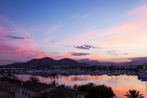 Evening sea views, Majorca, Spain