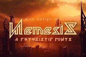 Nemesis - Futuristic Font