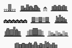 Architecture icons set
