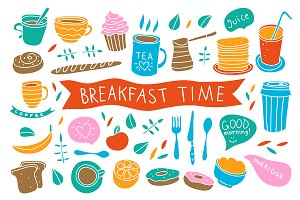Breakfast time illustrations