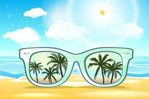 Summer Time concept, vector