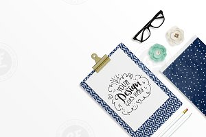 Navy & Mint Styled Desktop Scene