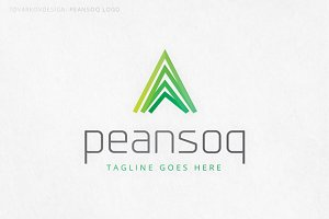 Peansoq Abstract Triangle Logo