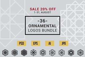 Ornamental logos bundle