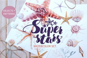 SUPER STARS watercolor set