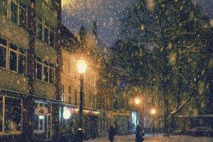 Snowfall at Christmas